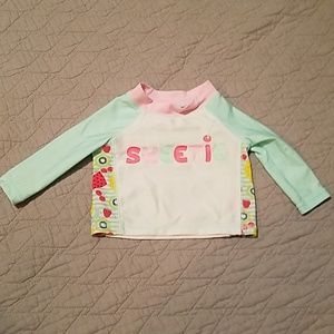"Other - ""Sweetie"" long sleeve rashguard size 3-6M"
